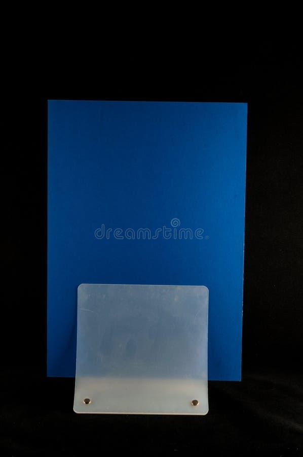 Pusty ulotki mockup papieru właściciel odizolowywający fotografia royalty free