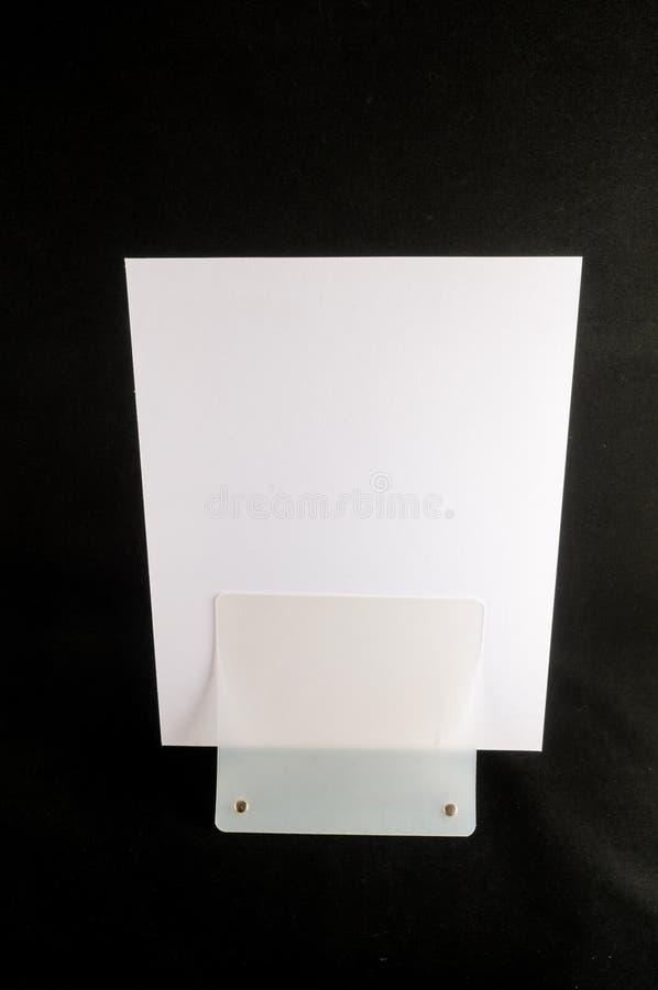 Pusty ulotki mockup papieru właściciel odizolowywający obrazy royalty free