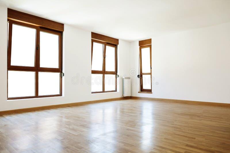 Pusty wewnętrzny pokój i okno fotografia stock