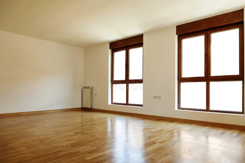 Pusty wewnętrzny pokój i okno obraz stock