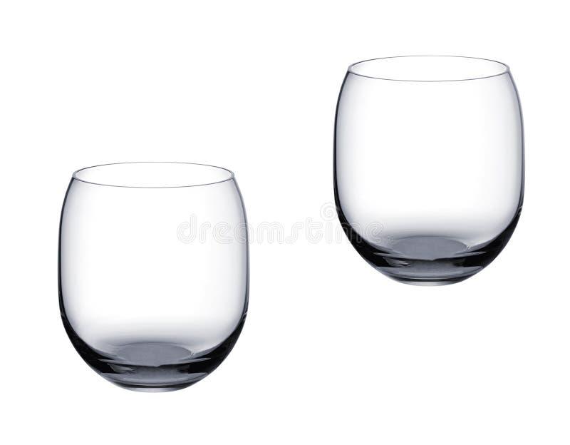 Pusty whisky szkło odizolowywający na bielu zdjęcia stock