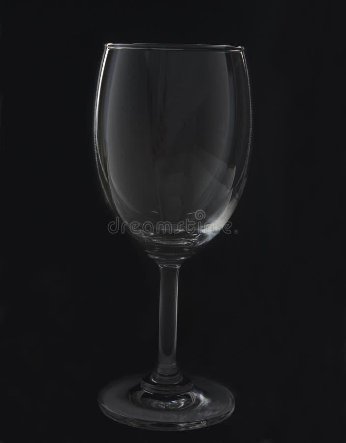 Pusty wina szkło obrazy royalty free