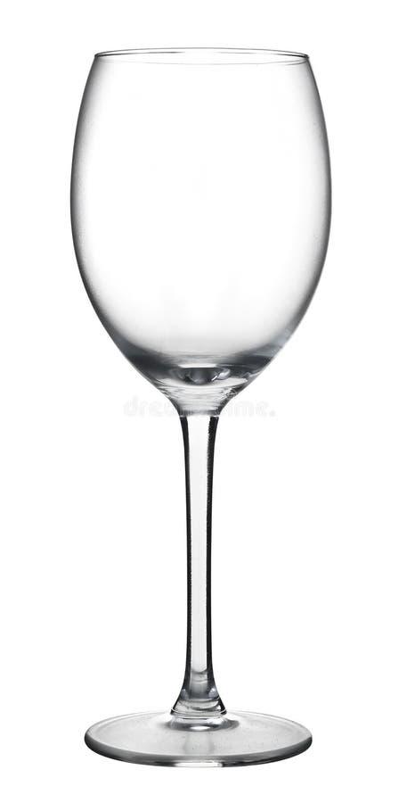 Pusty wina szkło odizolowywający na białym tle zdjęcia royalty free