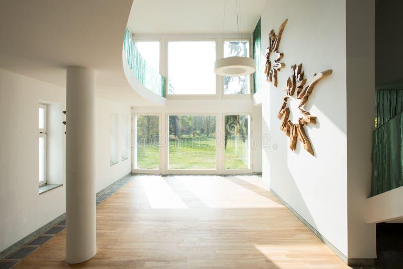 Pusty wnętrze przestronny dom obrazy royalty free