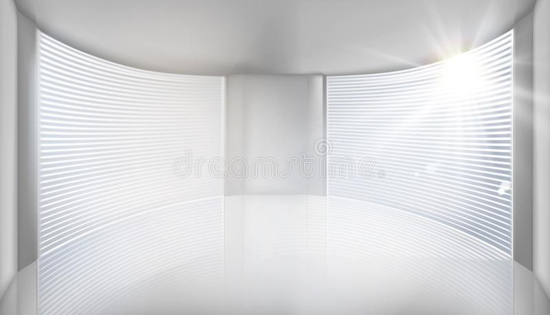 Pusty wnętrze z wielkim okno również zwrócić corel ilustracji wektora ilustracja wektor