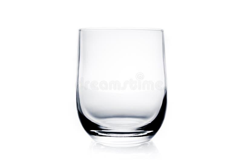 Pusty wodny szkło fotografia stock
