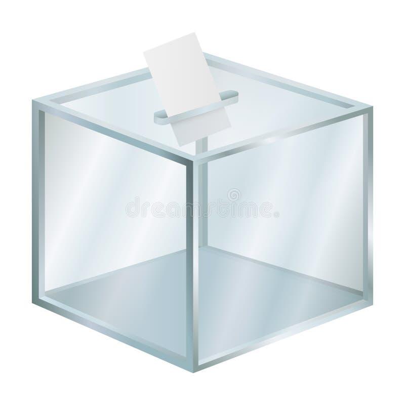 Pusty wybory pudełka mockup, realistyczny styl ilustracja wektor
