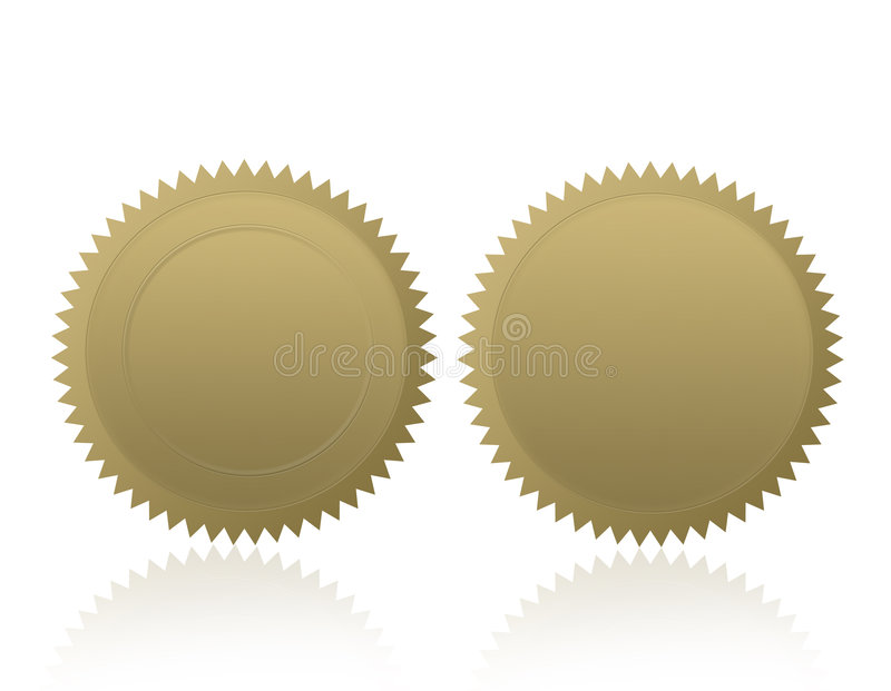 pusty złoty medal plomby pieczęć royalty ilustracja