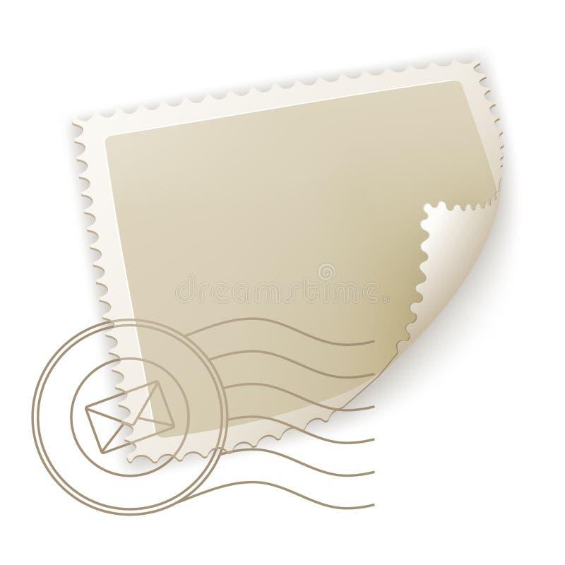 pusty znaczek pocztowy ilustracja wektor