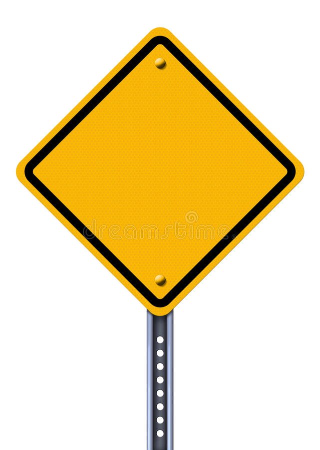 pusty znak drogowy żółty royalty ilustracja