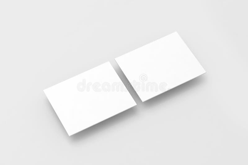 Pustych białych prostokątów strony internetowej projekta komputerowy mockup obrazy royalty free