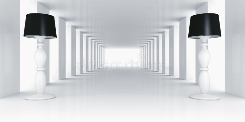 pustych lamp izbowy biel ilustracji