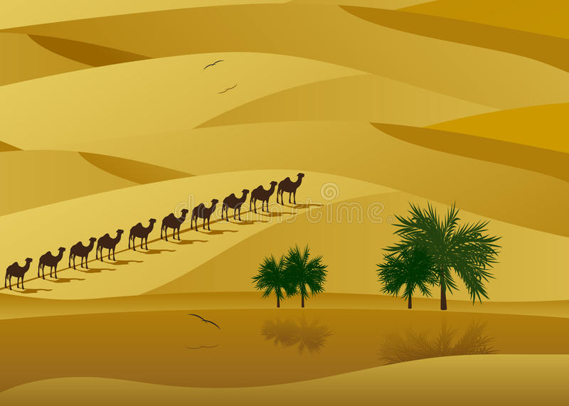 pustynia ilustracji