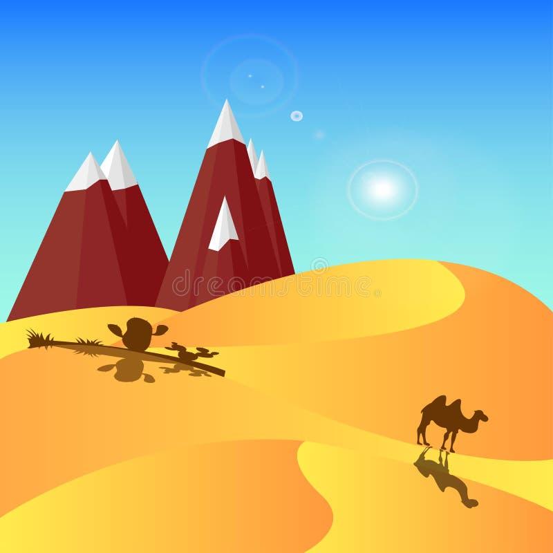 pustynia royalty ilustracja