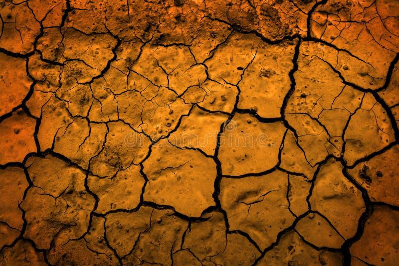 Pustynia Susząca błoto Spiekająca brud Ziemska Reprezentuje zmiana klimatu zdjęcia royalty free