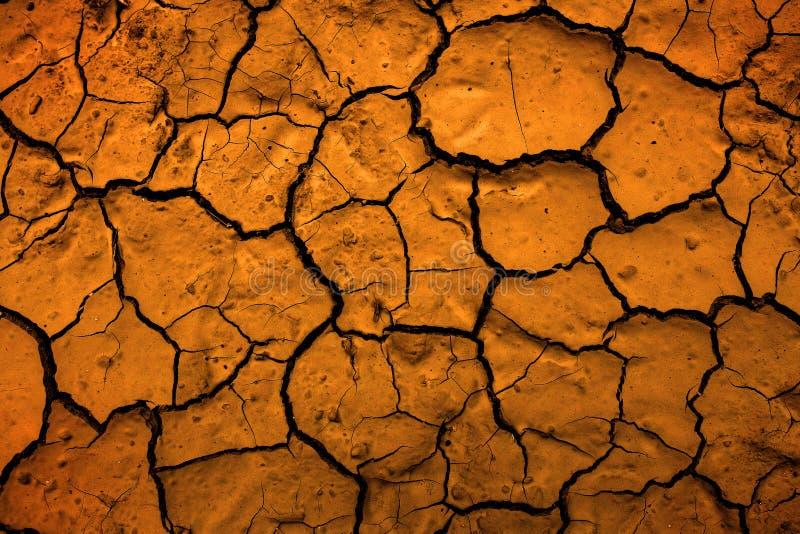Pustynia Susząca błoto Spiekająca brud Ziemska Reprezentuje zmiana klimatu obraz stock