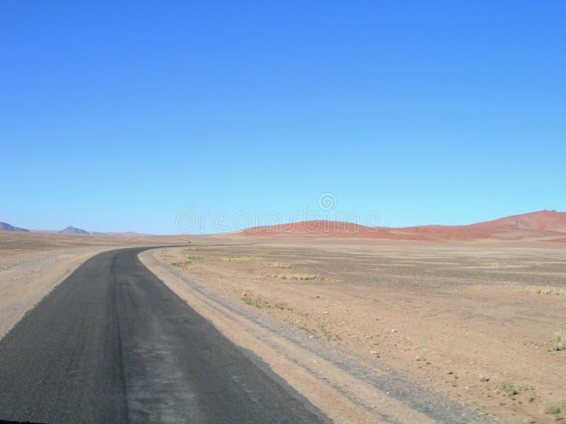 pustynna Africa droga Kalahari fotografia stock
