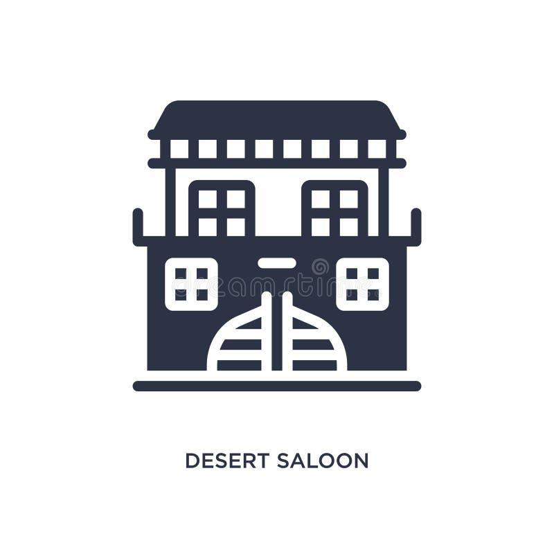 pustynna bar ikona na białym tle Prosta element ilustracja od pustynnego pojęcia ilustracja wektor