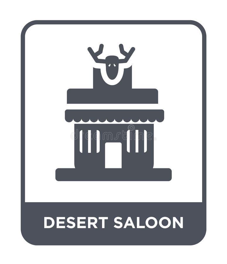 pustynna bar ikona w modnym projekta stylu pustynna bar ikona odizolowywająca na białym tle pustynnego baru wektorowa ikona prost royalty ilustracja