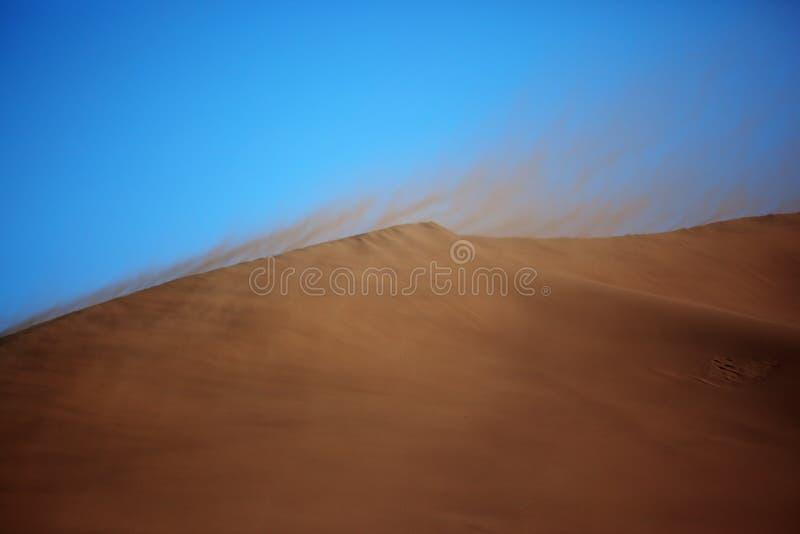 pustynna burza piaskowa fotografia stock