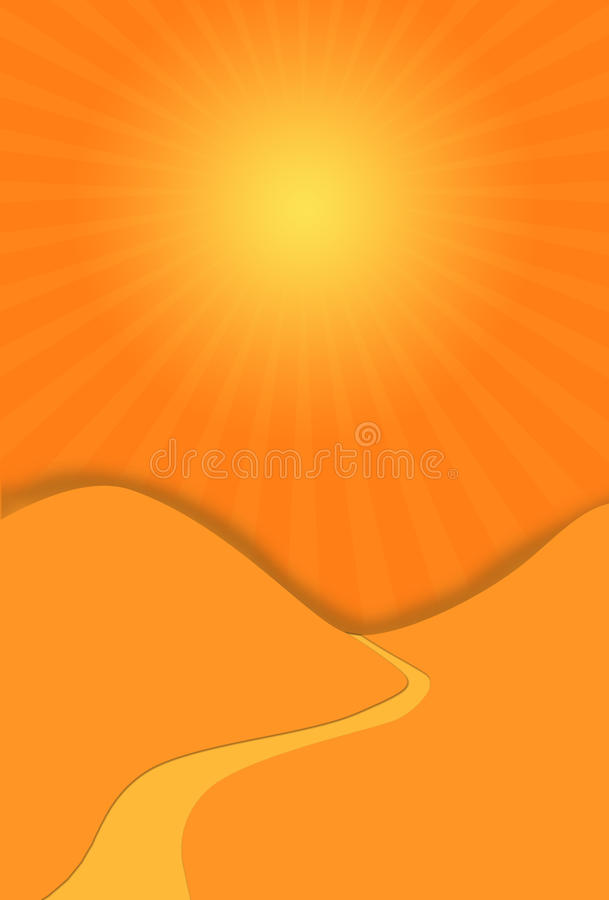 pustynna droga ilustracja wektor