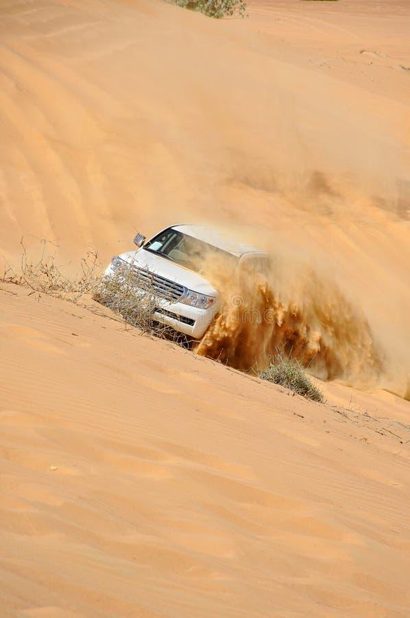 pustynna Dubai dżipa wycieczka turysyczna zdjęcie royalty free