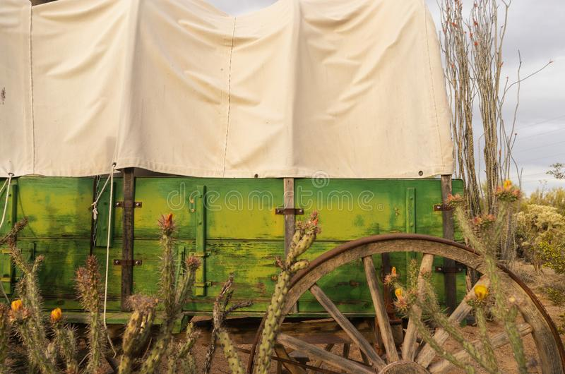 Pustynna Dzika Zachodnia kowbojska scena obrazy royalty free