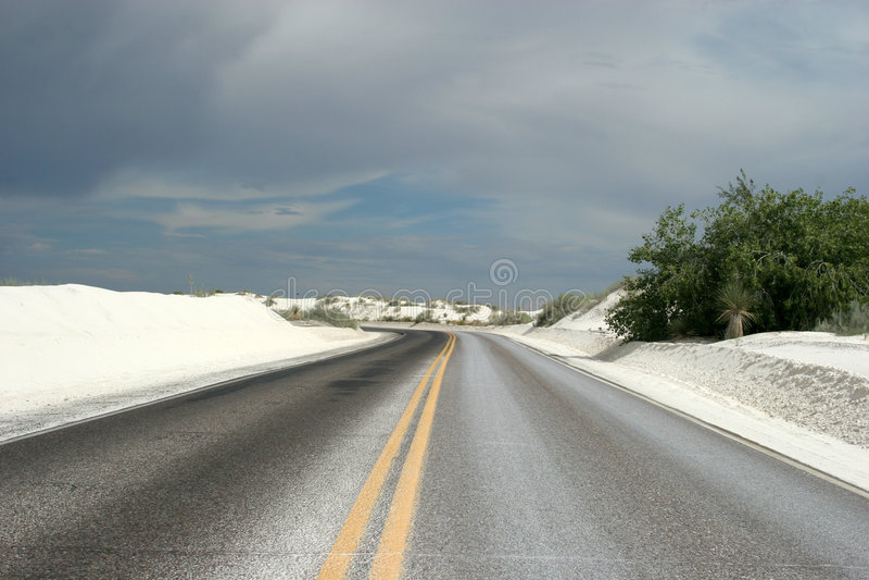 pustynna highway obraz royalty free