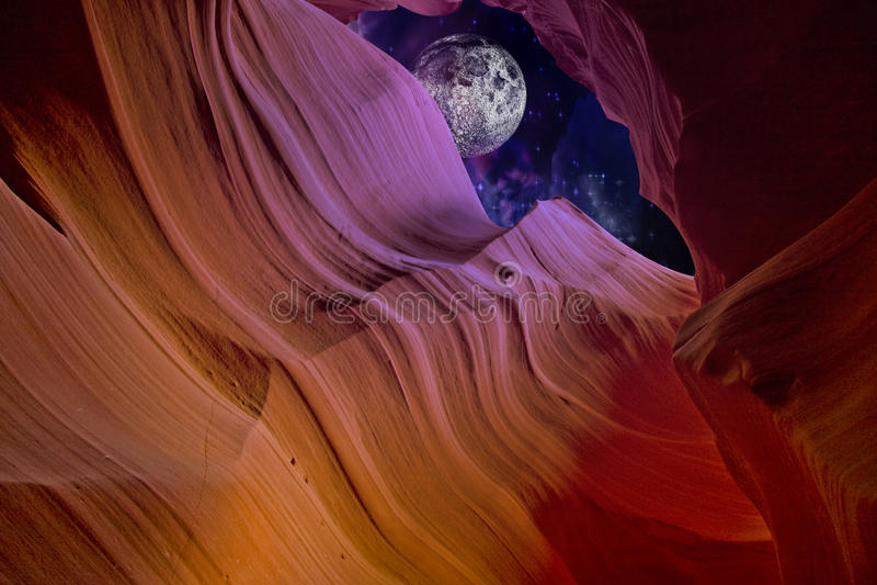 pustynna jar noc royalty ilustracja