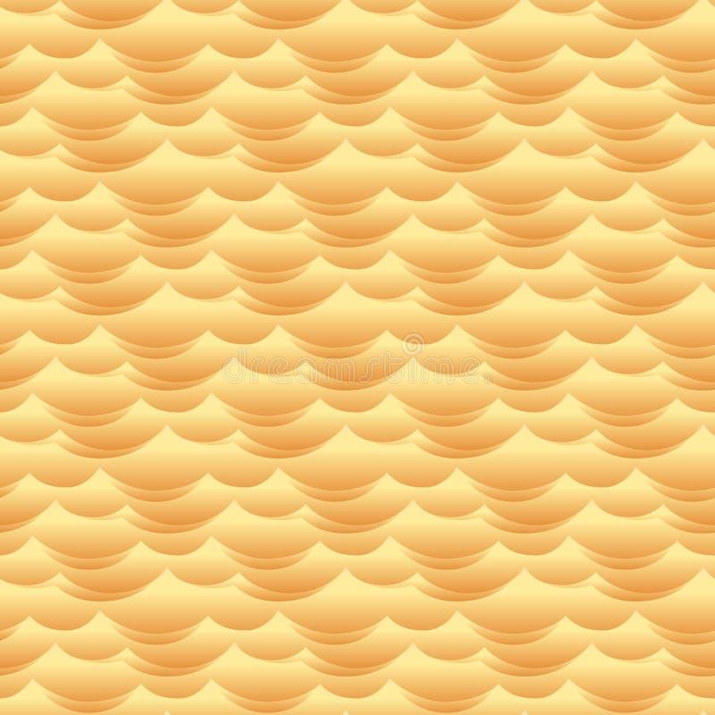 Pustynna piasek diuna macha bezszwową wektorową teksturę lub wzór ilustracji