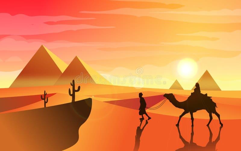 Pustynna podróż ilustracji