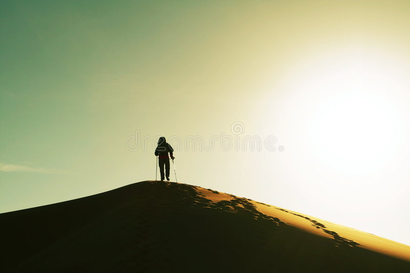 pustynna podwyżkę obrazy royalty free