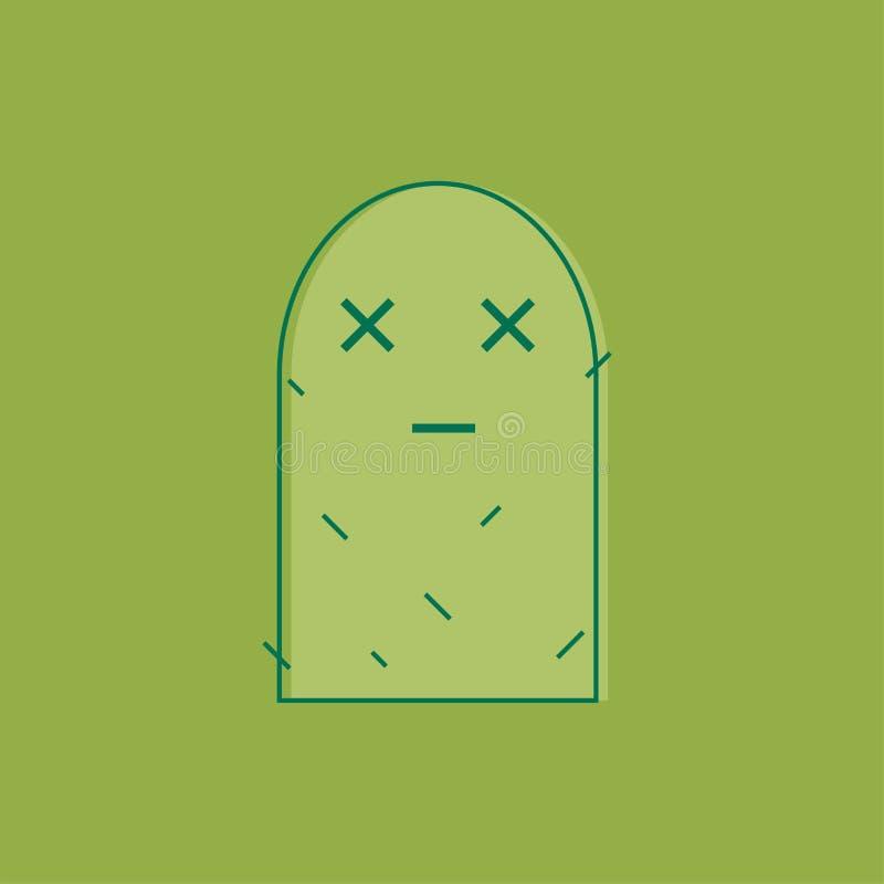 Pustynna roślina, kaktus kreskowa ikona, konturu wektoru znak, liniowy styl royalty ilustracja