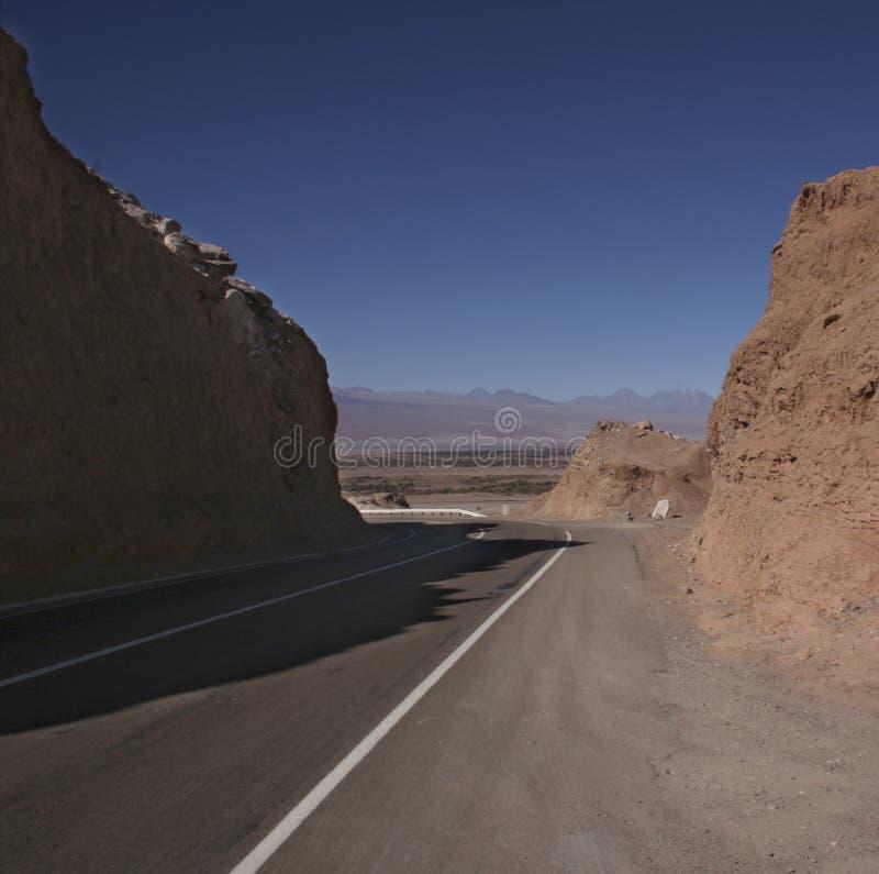 pustynna road zdjęcia stock
