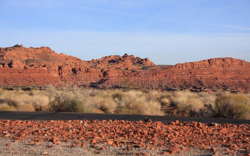 pustynna sceneria zdjęcia stock
