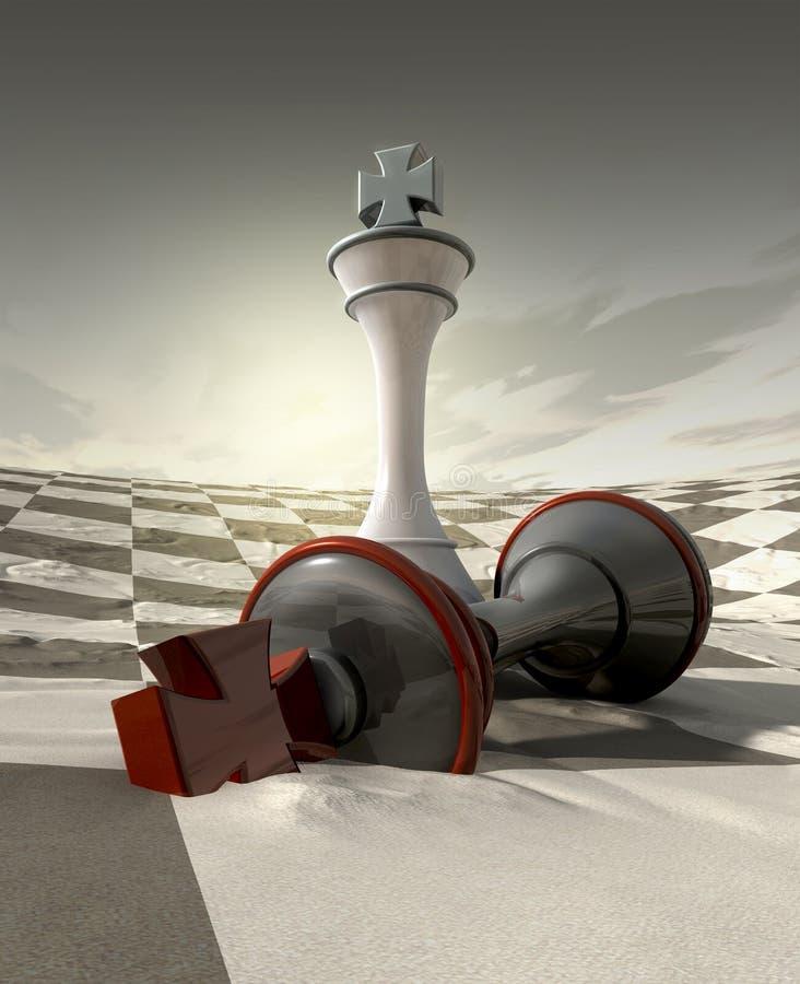 pustynna szachy gra royalty ilustracja