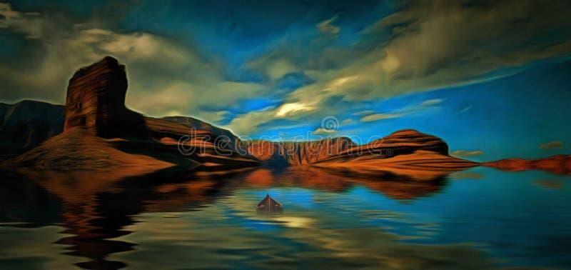 Pustynna woda ilustracji