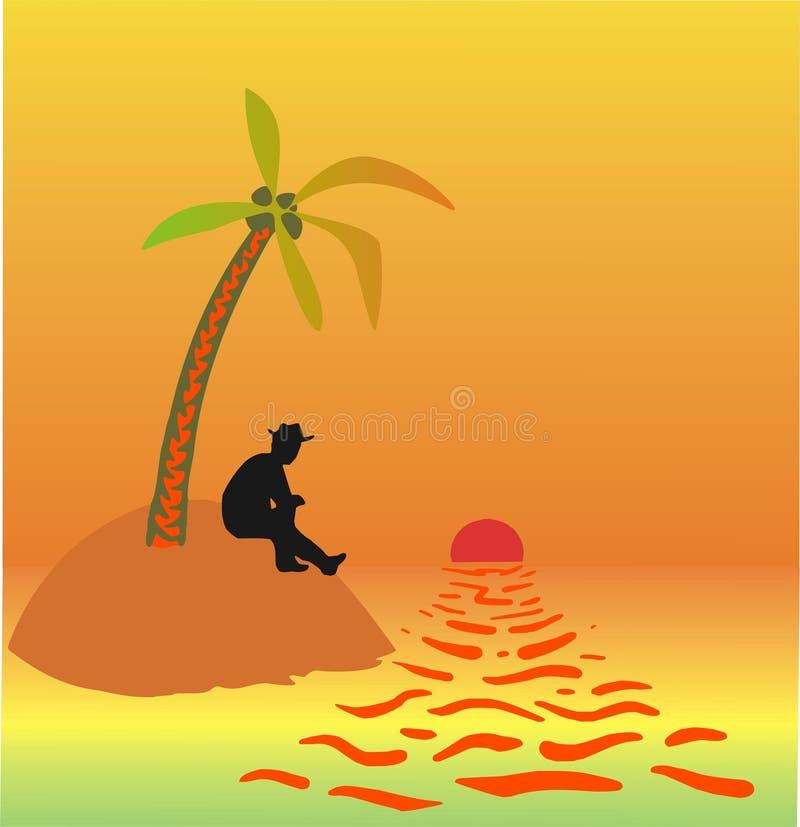 pustynna wyspę. zdjęcie stock