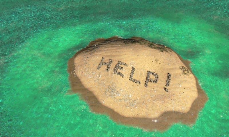 Pustynna wyspa ilustracja wektor