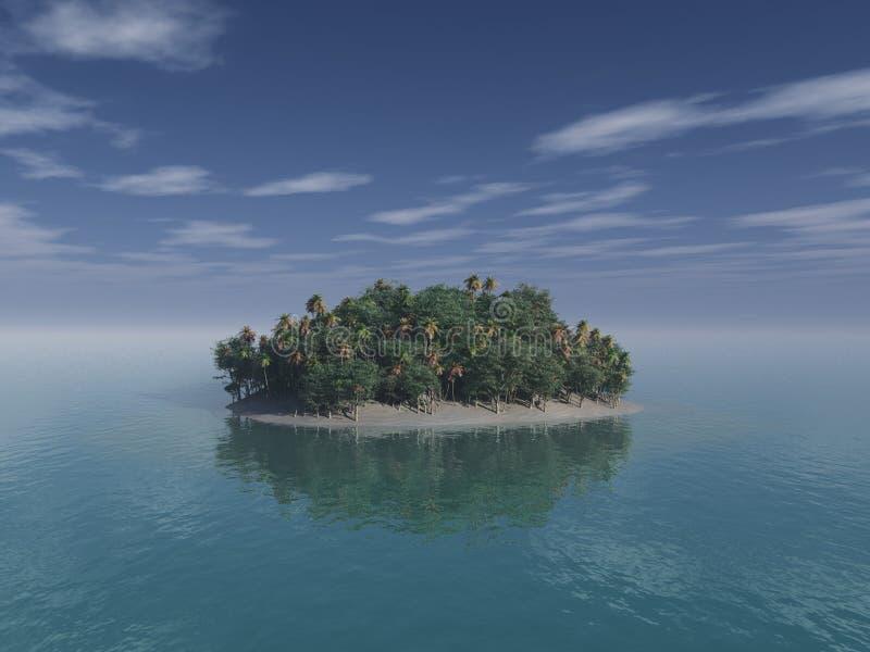 pustynna wyspa royalty ilustracja