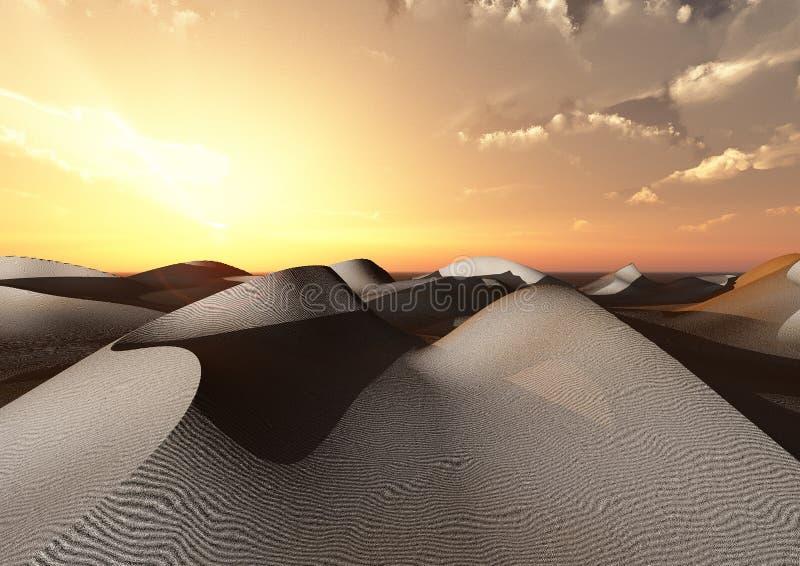 pustynne diuny ilustracja wektor