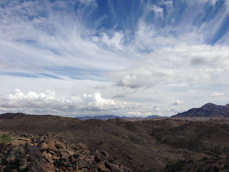 Pustynne góry blisko Yuma, AZ zdjęcia royalty free