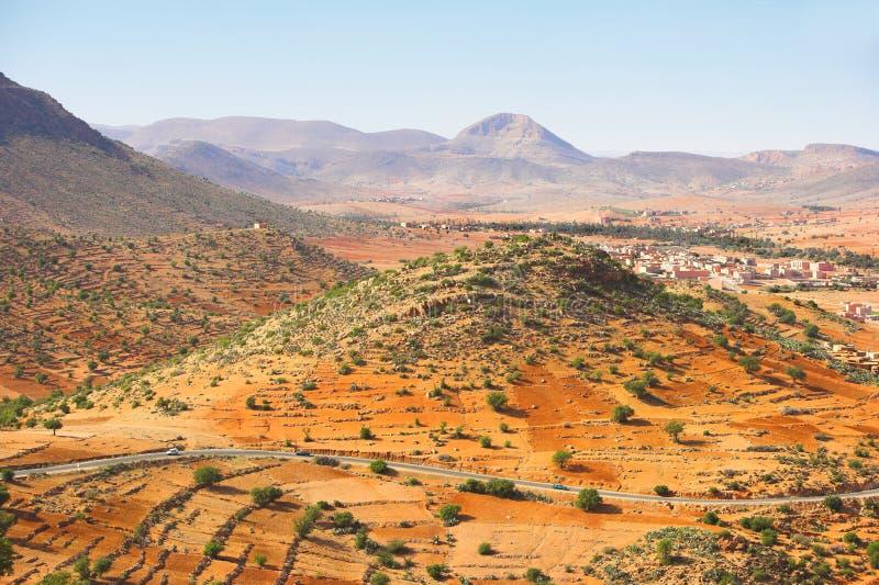 pustynne Morocco kamień obraz stock