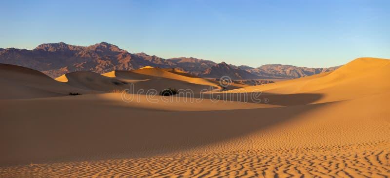 Pustynne piasek diuny Śmiertelny Dolinny Kalifornia obrazy stock