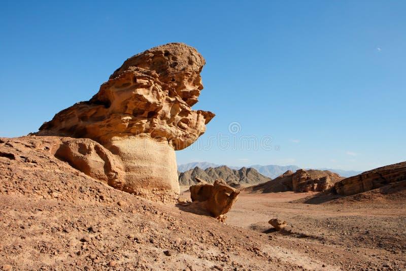 pustynnej pieczarki skały sceniczny kształta kamień fotografia royalty free