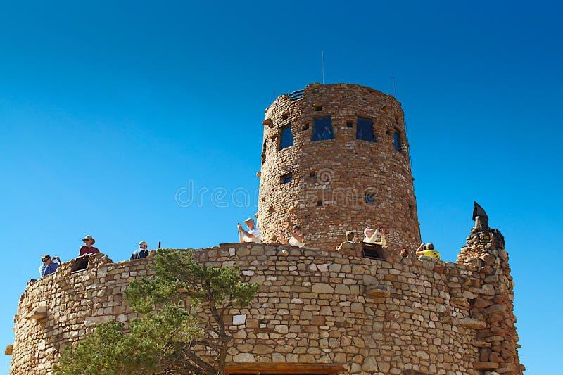 Pustynnej widok wieży obserwacyjnej Uroczysty jar, AZ zdjęcia stock