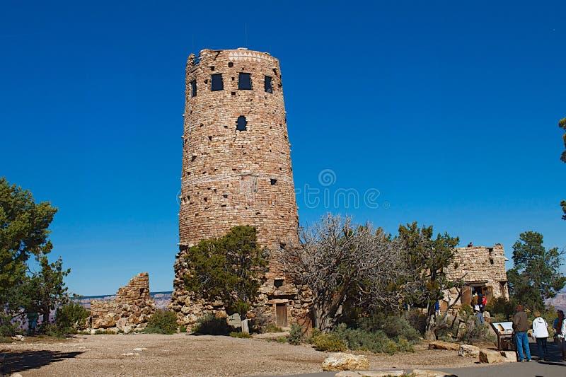 Pustynnej widok wieży obserwacyjnej Uroczysty jar, AZ obraz stock