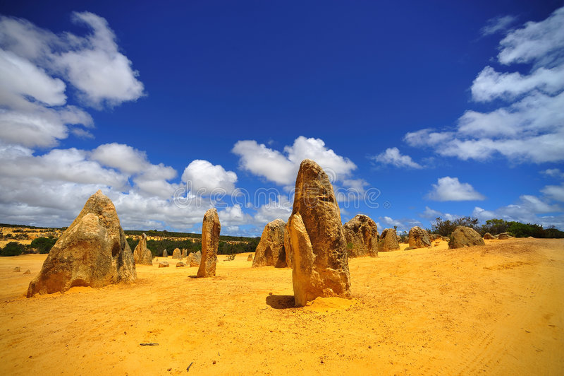 pustynni Australia pinakle zdjęcia stock