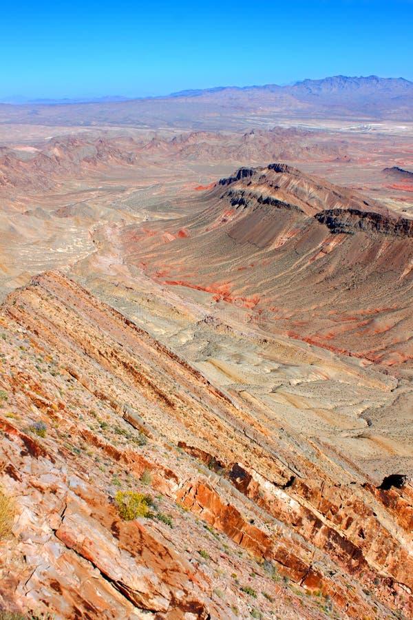 Pustynny środowisko Nevada obrazy royalty free