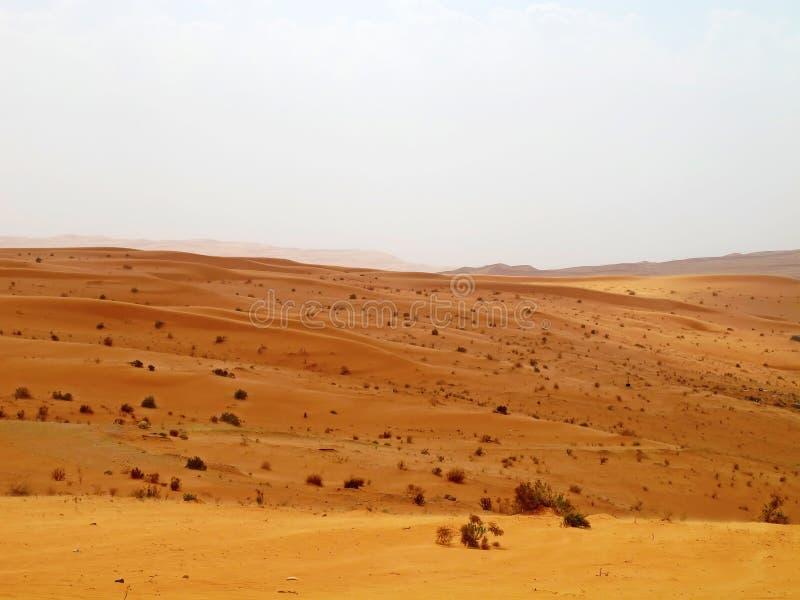 pustynny czerwony piasek zdjęcia stock